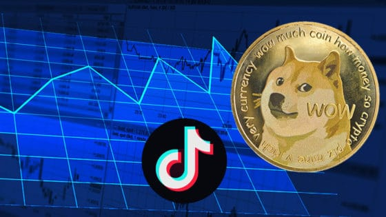 Dogecoin aumenta 20% por reto viral en TikTok