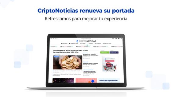 CriptoNoticias refresca su página de inicio con una combinación de estilo y funcionalidad