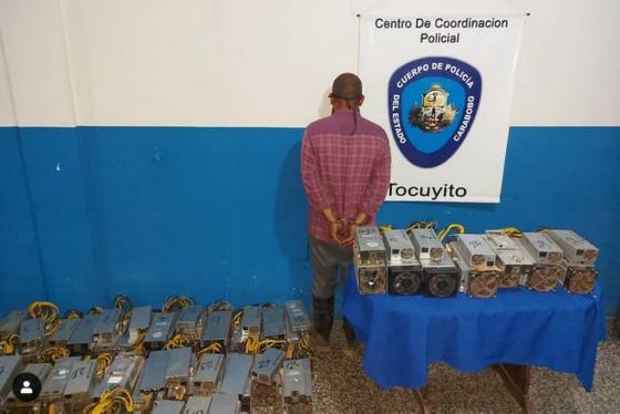 Un detenido y casi 40 mineros de Bitcoin incautados tras operativo policial en Venezuela