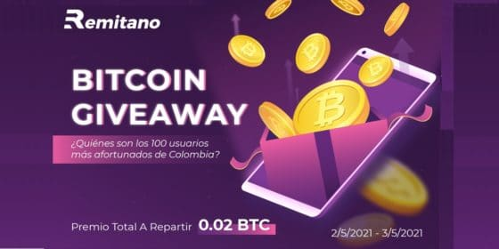 ¡Aprovecha la oportunidad de ganar 0,02 BTC a repartir con Remitano!
