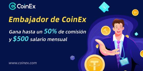 Exchange CoinEx invita a usuarios hispanos a formar parte del programa de embajadores