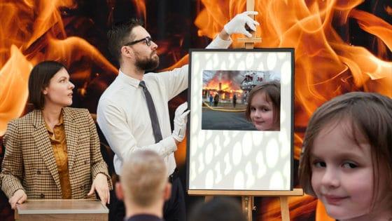 Meme de Disaster Girl en formato NFT vendido en subasta por más de 300 mil dólares