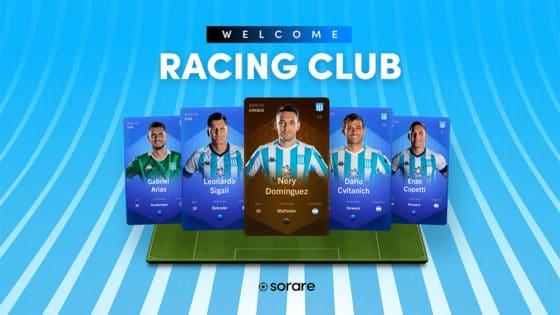 Racing Club de Argentina se suma al fútbol fantasy de Sorare con nuevos NFT