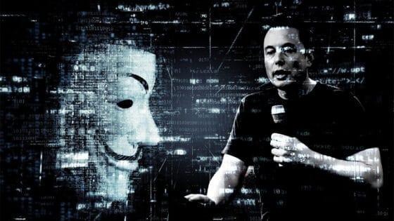 Anonymus cuestiona a Elon Musk por «manipular el precio de bitcoin»