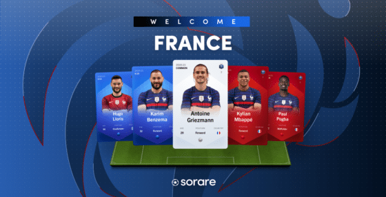 Francia es la primera selección nacional de fútbol con sus tarjetas NFT en Sorare