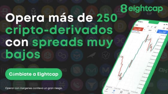 Bróker Eightcap lanza más de 250 derivados de criptomonedas