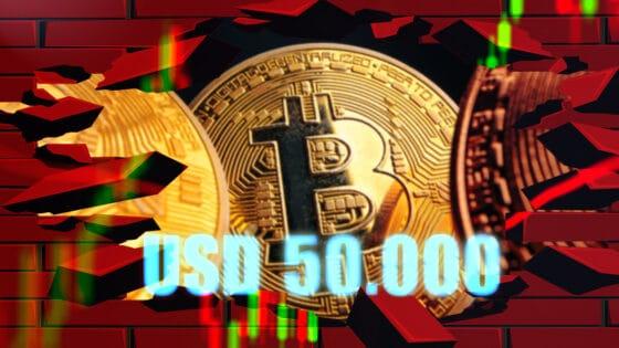 Bitcoin supera los USD 50.000 en medio de caída de principales acciones