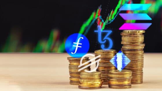 Solana y Tezos lideran el top de la semana impulsadas por bitcoin